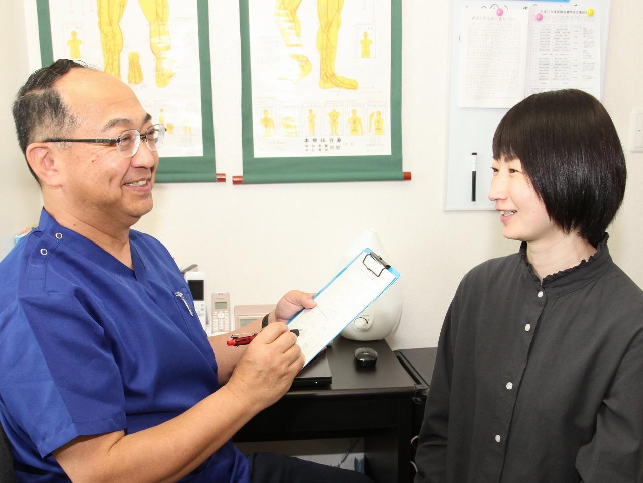 腰痛・肩治療は全身から。最小限の鍼で最大限の効果を。イメージ